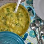 Creamy Cheddar Russet Leek Soup