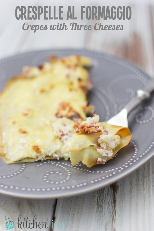 Crespelle al Formaggio (Crepes with Three Cheeses)