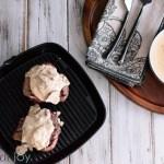 Grilled Steak with Creamy Mushroom Gorgonzola Sauce