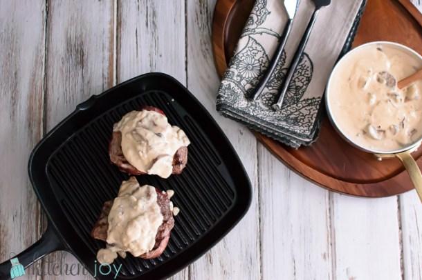 Creamy Mushroom Gorgonzola Sauce for Steaks