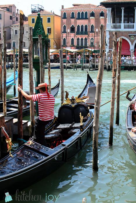 Gondola and Gondolier-Venice, Italy ~ July 19, 2014
