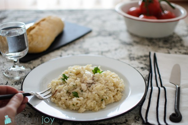 Risotto with Branzino