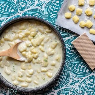 Homemade Gnocchi with Creamy Gorgonzola Sauce - Kitchen Joy
