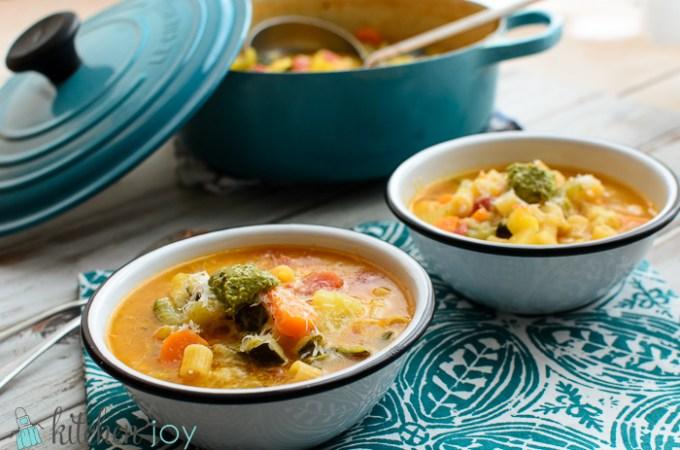 Minestrone with Pesto - Kitchen Joy
