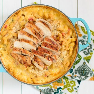 Spicy Mac & Cheese with Grilled Chicken - Kitchen Joy