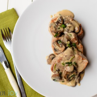 Pork Tenderloin with Creamy Mushroom Sauce - Kitchen Joy