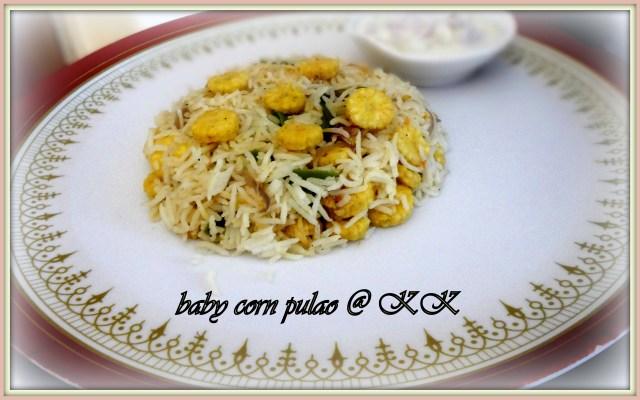 baby corn pulao_kk1