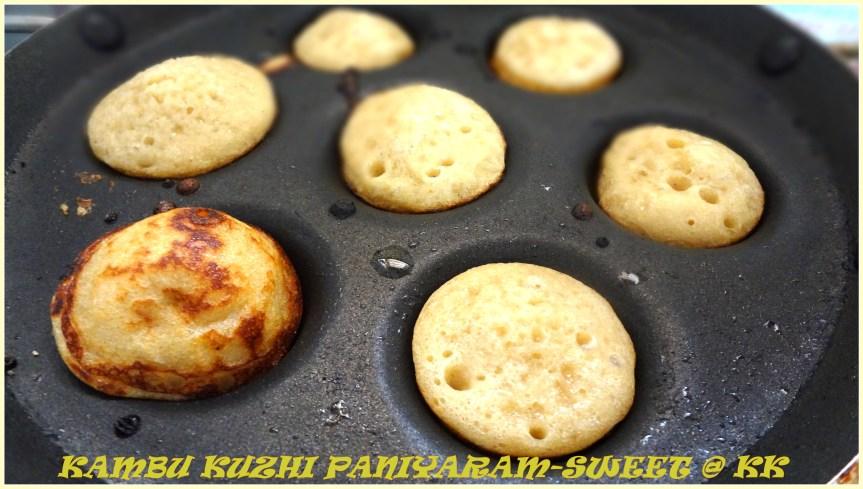 kambu kuzhi paniyaram_sweet