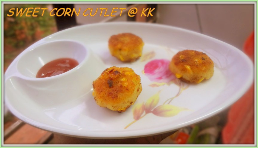 SWEET CORN CUTLET|CORN ALOO TIKKI|CORN TIKKI PATTIES