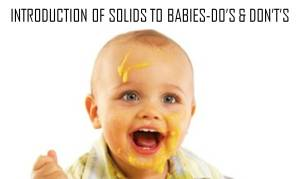 do's and don'ts of introducing solids