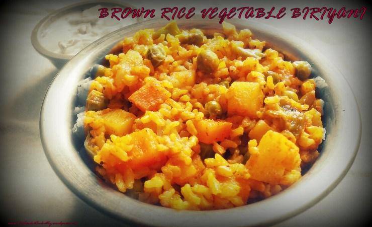 vegetable biriyani with brown rice.JPG