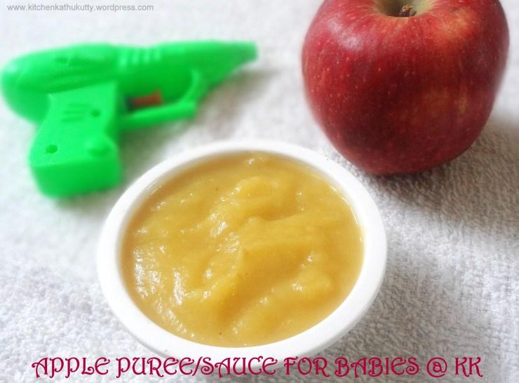 apple puree or apple sauce