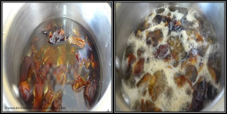 making home made dates syrup