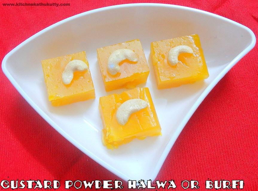 custard powder halwa