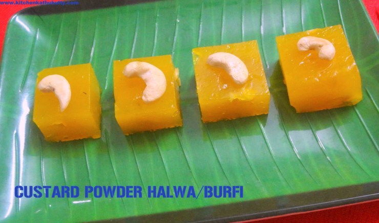 custard powder halwa or burfi