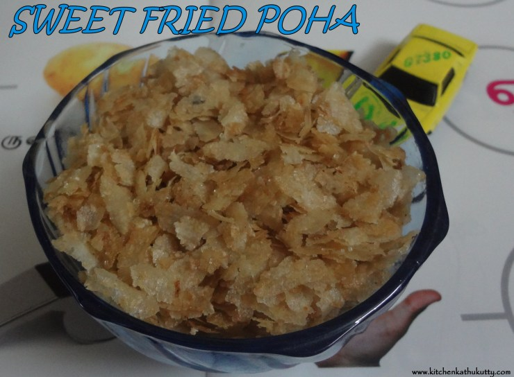 ghee fried poha