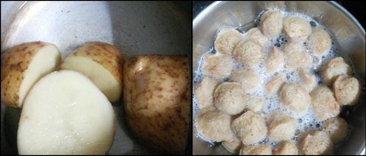 soya chunks potato sabji