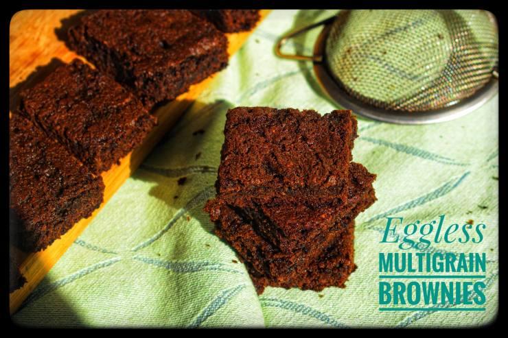eggless mutigrain brownies