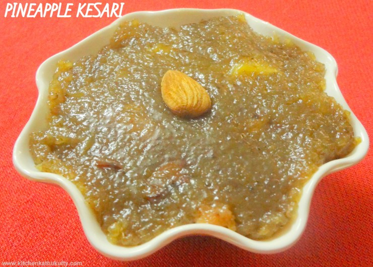 broken wheat pineapple halwa