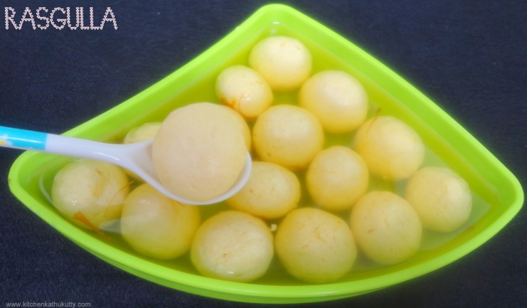 home made spongy rasgulla