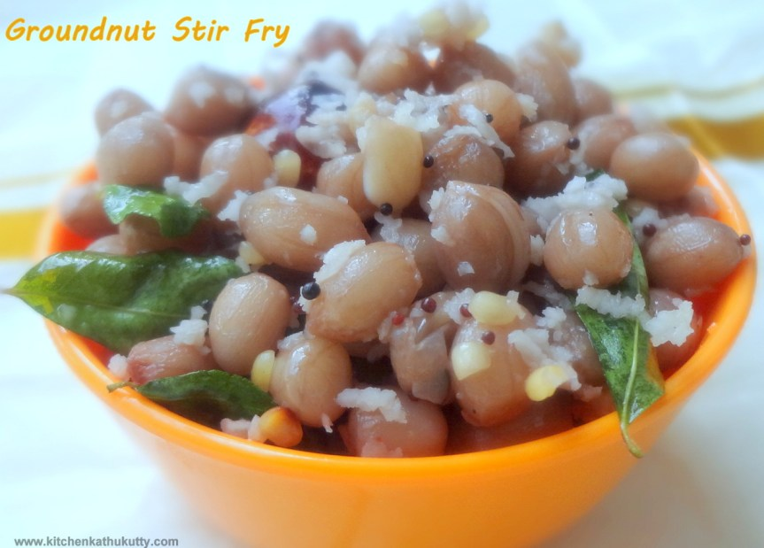 groundnut stir fry