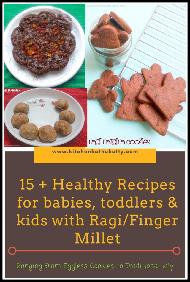 Ragi Recipes For babies ,Toddlers and Kids