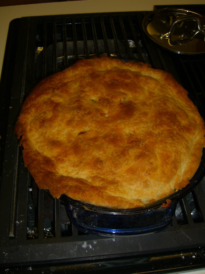 Pot Pie out of the oven