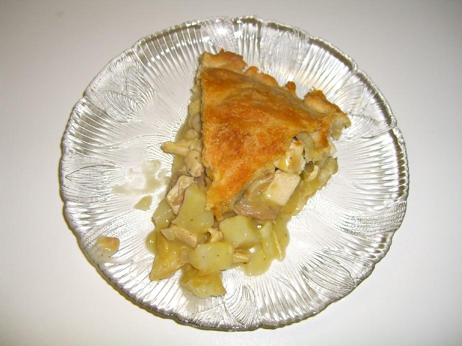 Plated pot pie