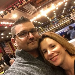 Wife and I at a boxing match.