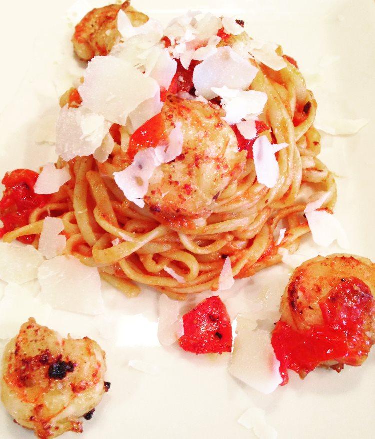 Sautéed Garlic Shrimp & Linguine