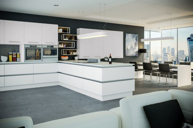 Firbeck Supermatt White Kitchen scaled