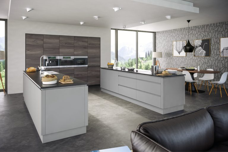 Rothwell Supermatt Light Grey Malton Lava Elm Kitchen scaled