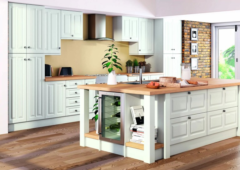 Super White Ash Milano Kitchen scaled