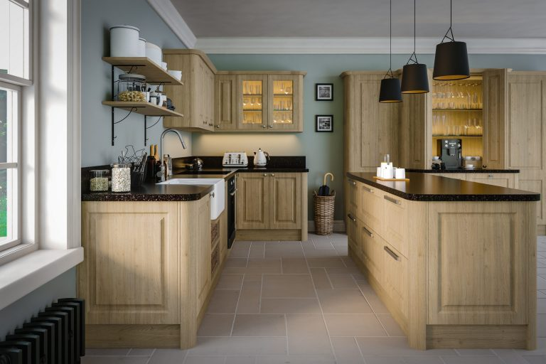 Tortona Natural Oak Tuscany Kitchen scaled