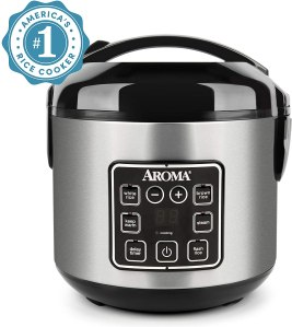 Aroma Housewares 2-8-Cups Digital Cool-Touch Rice Grain Cooker