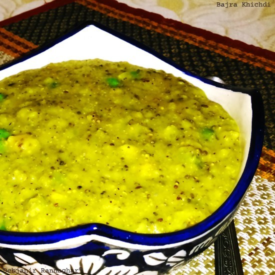 Bajra Khichdi | Indian Black Millet or Pearl Millet Khichdi
