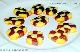 %Checkerboard Cookies Indian Recipe