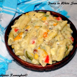 Easy Pasta In White Sauce Indian Recipe
