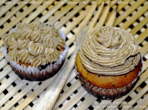 %Mawa Cup Cake with Nolen Gur butter Cream Froasting