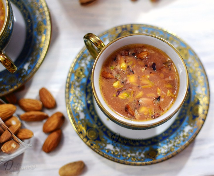 Kashmiri Noon Chai or Pink Tea from the valley of Kashmir!