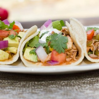 Crockpot Chicken Taco Recipe: Super easy, healthy, and very delicious. Warm melt in your mouth tacos with minimal effort. Simplify your dinner plans with this recipe!