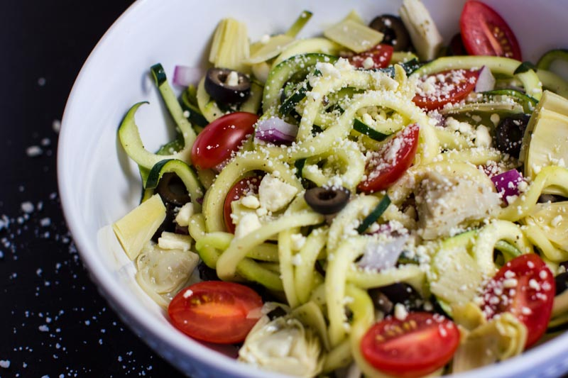 Delicious Zucchini Noodle (zoodle) Salad For A Healthy, Light Lunch Or  Dinner Salad