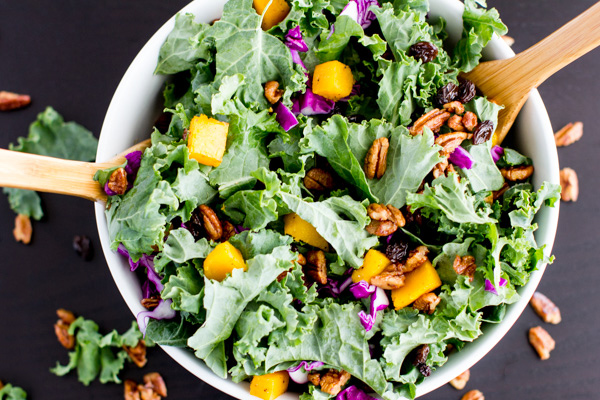Butternut Squash salad recipe is whole 30, vegan, and paleo approved. It's sweet, tart and crisp. The perfect Thanksgiving sidedish