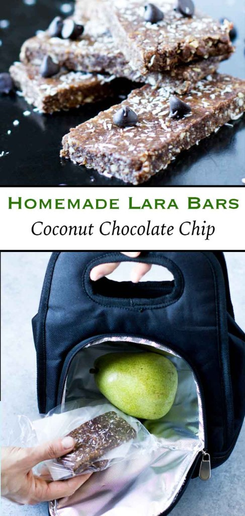 Larabar Recipe: Vegan Coconut Chocolate Chip Larabars are perfectly sweet & crunchy. They have a naturally delicious chocolate & coconut flavor... Plus they're easy to make/ store, and taste even better than store bought.
