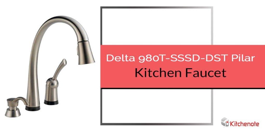 Delta 980T-SSSD-DST Pilar Kitchen Faucet