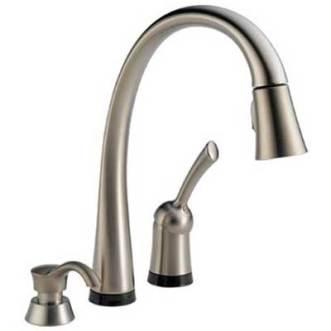 Delta 980T-SSSD-DST Pilar Single Handle Pull-Down Kitchen Faucet