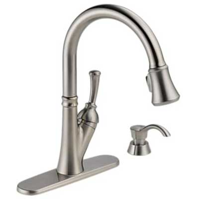 Delta Savile 19949 SSSD DST Single Handle Pull Down Kitchen Faucet