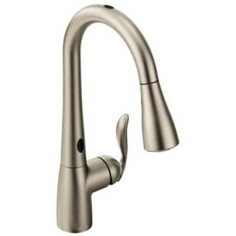 Moen 7594ESRS Arbor High Arc Pulldown Kitchen Faucet
