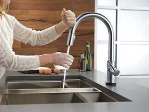 Cleaning and Additional Features- Delta Trinsic 9159T-AR-DST Kitchen Faucet