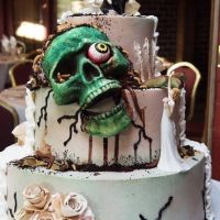 Geek Cake Friday: 21 Zombie Wedding Cakes